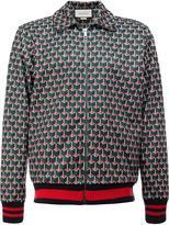 Gucci geometric print bomber jacket - men - Cotton/Polyamide/Polyester/Spandex/Elastane - S