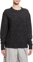 Joseph Fine Tweed Wool-Blend Pullover Sweater, Black