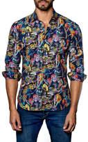 Jared Lang Palm Leaf Trim Fit Shirt