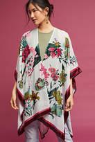 Anthropologie Velvet Ruana Kimono