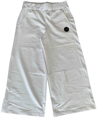 Colmar White Cotton Trousers for Women