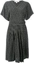 Diane von Furstenberg dotted wrap dress - women - Silk - 6