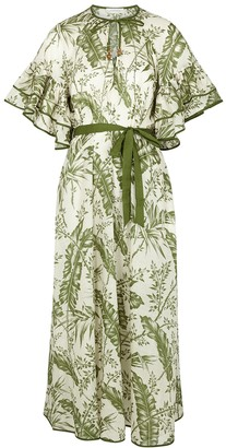 Zimmermann Empire printed cotton midi dress