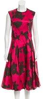 Lanvin Pleated A-Line Dress