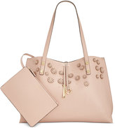 Calvin Klein Flower Appliqué Novelty Tote with Pouch