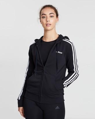 adidas Essentials 3-Stripes Full-Zip Hoodie