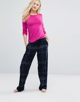 DKNY Logo Checked Pajama Set