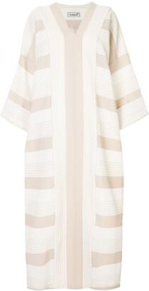 Bambah Petunia striped kaftan dress