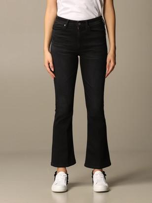 Dondup Jeans In Dark Flared Denim