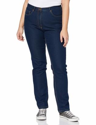 Ulla Popken Women's Jeans Regular Fit Stretch Straight