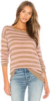 Velvet by Graham & Spencer Cath Striped Sweater in Tan. - size L (also in M,S,XS)
