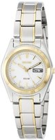 Seiko Women's SUT108 Two-Tone Stainless Steel Solar Watch