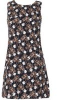 Dorothy Perkins Womens *Tenki Blue Tropical Shift Dress- Blue