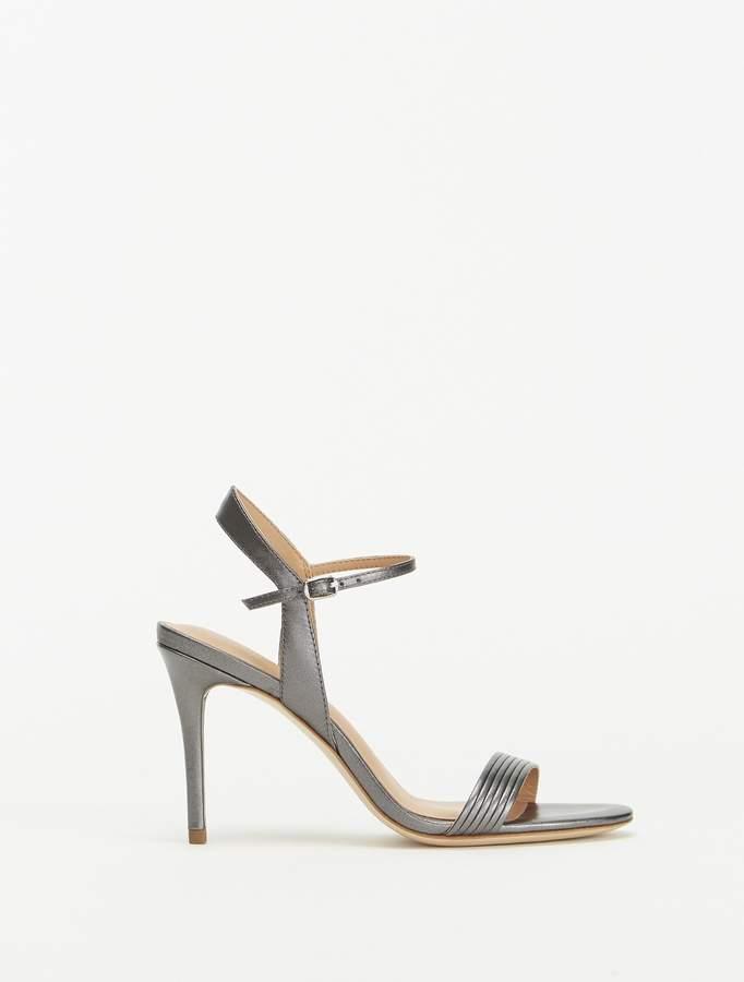 Halston Whitney Metallic High Heel Sandal