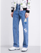 Kenzo Patch-detailed Easy-fit Straight Jeans