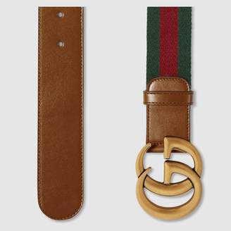 Gucci Nylon Web belt with Double G buckle
