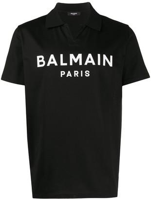 Balmain Logo-Printed Polo Shirt