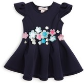 Halabaloo Infant Girl's Bouquet Scuba Dress