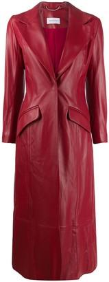 16Arlington Panelled Leather Coat