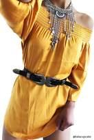 Forever 21 Satin Off-the-Shoulder Dress