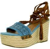 Tommy Hilfiger Women's Lovelle Fabric Light Blue Ankle-High Fabric Pump - 10M
