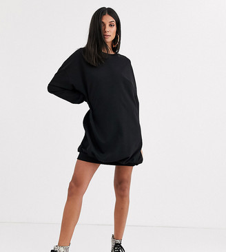 Asos DESIGN Tall oversized sweat dress in black