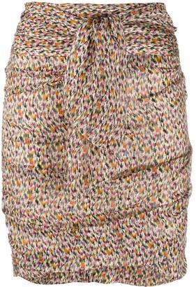 BA&SH Dina ruched mini skirt