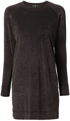 James Perse Velvet Sweatshirt Dress