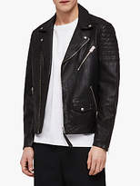 AllSaints Leo Leather Biker Jacket, Black