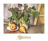 Cezanne 1art1 Posters: Paul Poster Art Print - Plate With Fruit And Earthenware (28 x 20 inches)