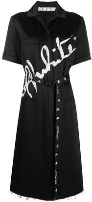 Off-White Logo-Print Shirt Dress