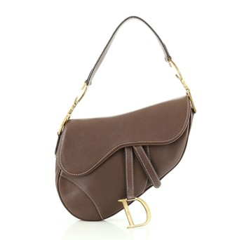 Christian Dior Vintage Saddle Bag Leather Medium
