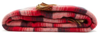 Gucci GG-intarsia Checked Wool Blanket - Red Multi