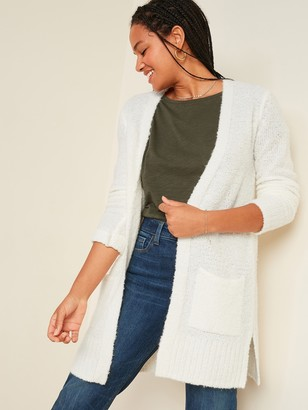 Old Navy Cozy Boucle Open-Front Long-Line Sweater for Women