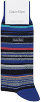 Calvin Klein Barcode Stripe Combed Cotton Ankle Socks