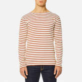 Armor Lux Men's Heritage Breton Stripe Long Sleeve Top Nature/Brick
