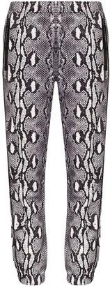 Adam Selman Sport Snakeskin-Print Track Pants