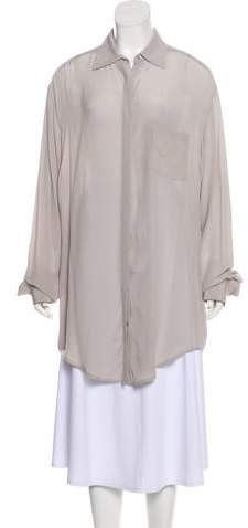 Rachel Zoe Long Sleeve Button-Up Top