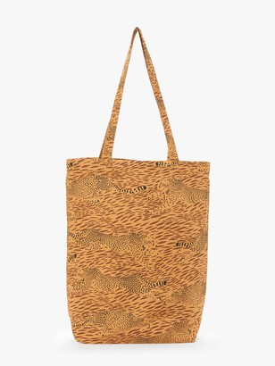 People Tree X BBC Earth Cheetah Print Shopping Bag, Multi