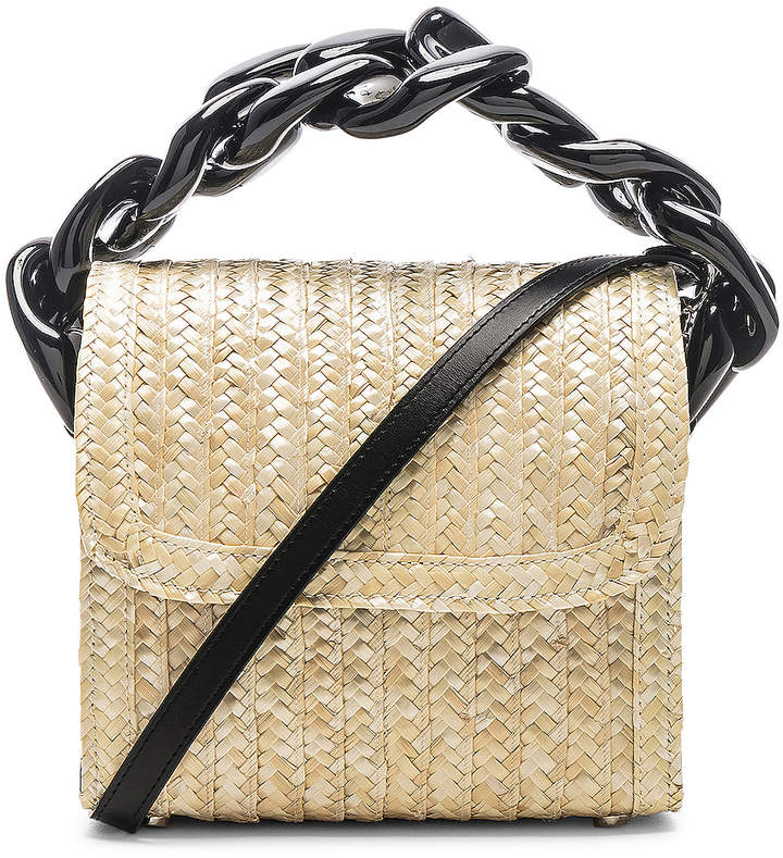 Marques Almeida Marques ' Almeida Chain Bag in Straw | FWRD