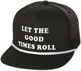 rhythm Rolling Trucker Cap Black