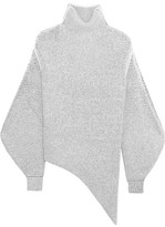Stella McCartney Oversized Stretch Wool-blend Bouclé Sweater - Off-white
