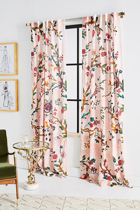 Anthropologie Cecilia Curtain By in Orange Size 50X63