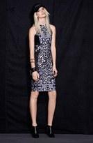 WAYF 'Baroque' Body-Con Midi Dress