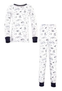 Touched by Nature Big Girls and Boys Arctic Tight-Fit Pajama Set, Pack of 2