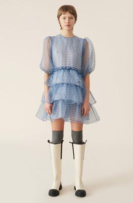 Ganni Organza Mini Dress