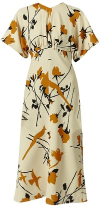 Ivory Batwing Midi Dress