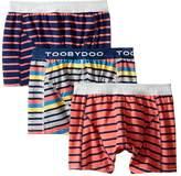 Toobydoo Multi Stripe Underwear 3-Pack Boy's Underwear