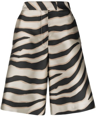 Just Cavalli Zebra-Print Knee-Lenght Shorts