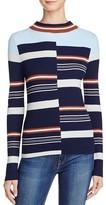 525 America Ribbed Striped Sweater